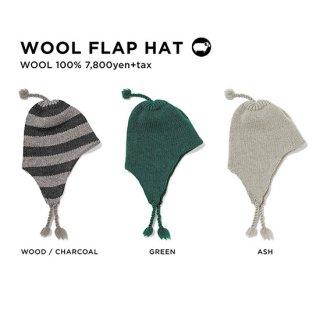 【20-21 予約商品】GREEN CLOTHING グリーンクロージング|WOOL FLAP HAT (イヤーフラップビーニー)