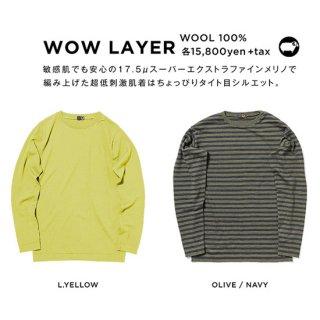 【20-21 予約商品】GREEN CLOTHING グリーンクロージング|WOW LAYER (メリノウール ファーストレイヤー)