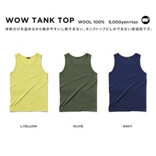 【20-21 予約商品】GREEN CLOTHING グリーンクロージング| WOW TANK TOP (メリノウール ファーストレイヤー)