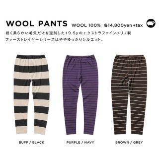 【20-21 予約商品】GREEN CLOTHING グリーンクロージング|WOOL PANTS (メリノウール ファーストレイヤー)