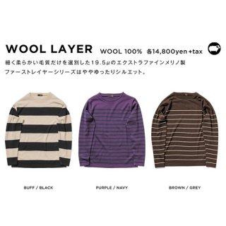 【20-21 予約商品】GREEN CLOTHING グリーンクロージング|WOOL LAYER (メリノウール ファーストレイヤー)