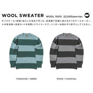 【20-21 予約商品】GREEN CLOTHING グリーンクロージング|WOOL SWEATER (ウールセーター)