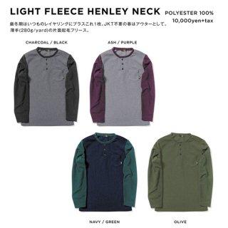 【20-21 予約商品】GREEN CLOTHING グリーンクロージング|LIGHT FLEECE HENLEY NECK (ヘンリーネック)
