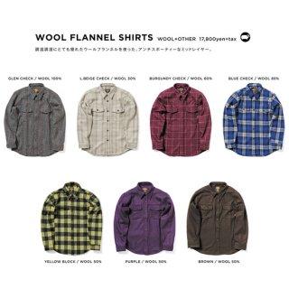 【20-21 予約商品】GREEN CLOTHING グリーンクロージング WOOL FLANNEL SHIRTS (ウールフランネルシャツ)
