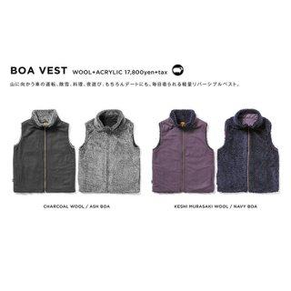 【20-21 予約商品】GREEN CLOTHING グリーンクロージング|BOA VEST (リバーシブルベスト)