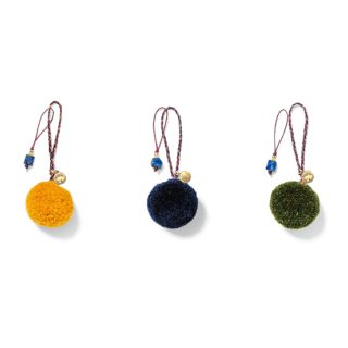 GREEN CLOTHING グリーンクロージング |POM POM+LAPIS LAZULI ZIPPER PULL SET (小物) (銀チャーム)