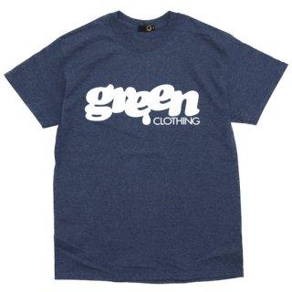 GREEN CLOTHING グリーンクロージング #1 LOGO TEE (ヘザーネイビー)(プリントTシャツ)