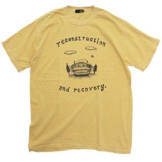 GREEN CLOTHING グリーンクロージング #3 DRIVE TEE (染めマスタード)(プリントTシャツ)