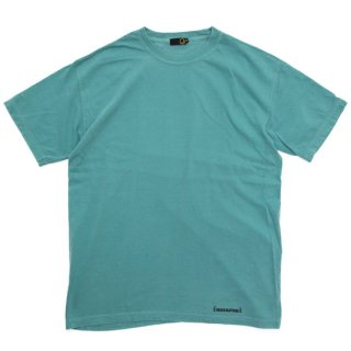 GREEN CLOTHING グリーンクロージング #4 Garden TEE (染めターコイズ)(プリントTシャツ)