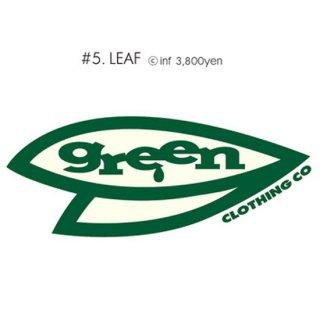 GREEN CLOTHING グリーンクロージング|#5 LEAF TEE (プリントTシャツ)