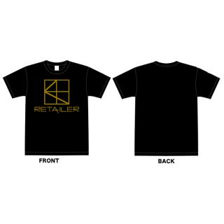 retailer LOGO Tシャツ(数量限定カラー:ブラック/ゴールド) -送料無料-