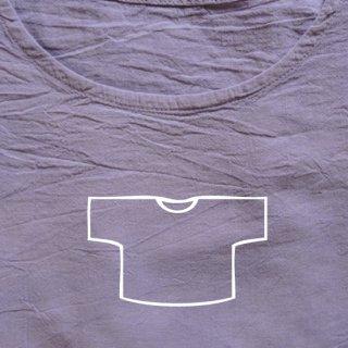 Tシャツ ショート 藤色