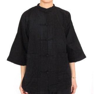 チャイナシャツ 黒 Sサイズ