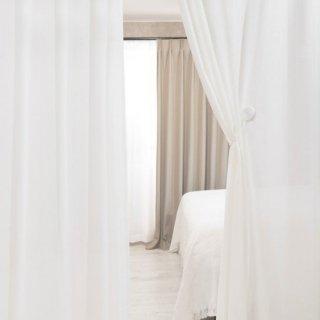[レースカーテン]遮熱/保温/遮像/UVカット/花粉キャッチ【カミラ】IV