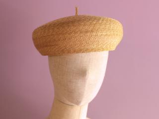 <新サイズL追加>麦わら素材のベレー帽 エリー Elie