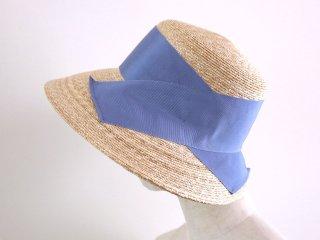 つば広の麦わら帽子 セシル Cecil ブルー