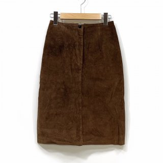 【vintage】70's  AnnTaylor. レザースカート