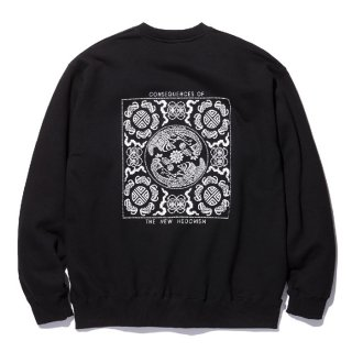 RADIALL/TEMPLE-CREW NECK SWEATSHIRT L/S/ブラック【30%OFF】<img class='new_mark_img2' src='https://img.shop-pro.jp/img/new/icons20.gif' style='border:none;display:inline;margin:0px;padding:0px;width:auto;' />