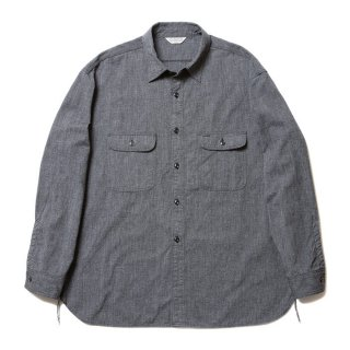 COOTIE/CHAMBRAY L/S WORK SHIRT/ブラック