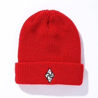 CHALLENGER/EMBROIDERED KNIT CAP/レッド