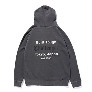 CHALLENGER/DYED PRINTED HOODIE/ライトブラック