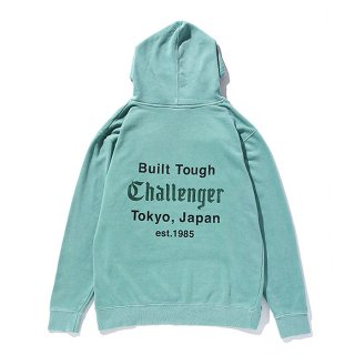 CHALLENGER/DYED PRINTED HOODIE/ライトグリーン