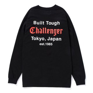 CHALLENGER/L/S BUILT TOUGH TEE/ブラック