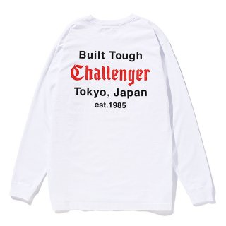 CHALLENGER/L/S BUILT TOUGH TEE/ホワイト