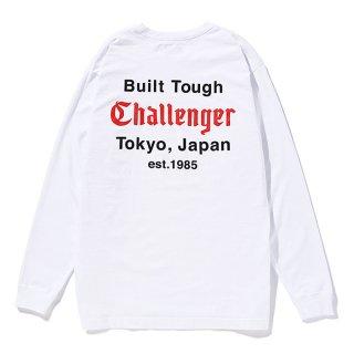 CHALLENGER/L/S BUILT TOUGH TEE/ホワイト