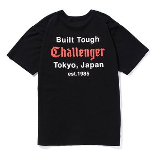 CHALLENGER/BUILT TOUGH POCKET TEE/ブラック