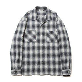 COOTIE/OMBRE CHECK OPEN-NECK L/S SHIRT