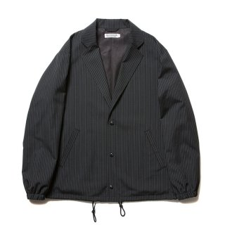 <img class='new_mark_img1' src='https://img.shop-pro.jp/img/new/icons8.gif' style='border:none;display:inline;margin:0px;padding:0px;width:auto;' />COOTIE/T/R LAPEL COACH JACKET/ブラックストライプ