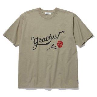 RADIALL/GRACIAS-CREW NECK T-SHIRT S/S/カーキ