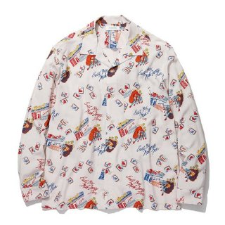 <img class='new_mark_img1' src='https://img.shop-pro.jp/img/new/icons8.gif' style='border:none;display:inline;margin:0px;padding:0px;width:auto;' />RADIALL/OAKTOWN-OPEN COLLARED SHIRT L/S/スノーホワイト