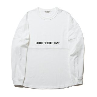 <img class='new_mark_img1' src='https://img.shop-pro.jp/img/new/icons8.gif' style='border:none;display:inline;margin:0px;padding:0px;width:auto;' />COOTIE/FOOTBALL OVERSIZED L/S TEE/ホワイト