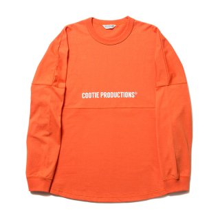 COOTIE/FOOTBALL OVERSIZED L/S TEE/オレンジ