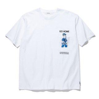 RADIALL/COP-CREW NECK T-SHIRT S/S/ホワイト