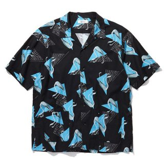 RADIALL/FLAMINGO-OPEN COLLARED SHIRT S/S