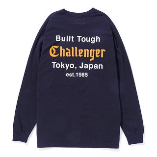 CHALLENGER/L/S BUILT TOUGH TEE/ネイビー
