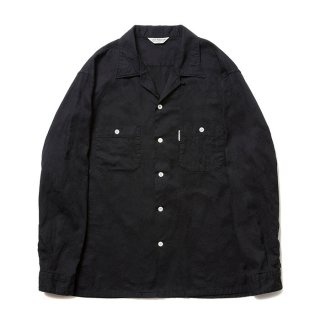COOTIE/PAISLEY OPEN-NECK L/S SHIRT/ブラック