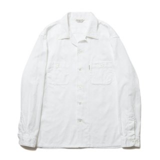 <img class='new_mark_img1' src='https://img.shop-pro.jp/img/new/icons8.gif' style='border:none;display:inline;margin:0px;padding:0px;width:auto;' />COOTIE/PAISLEY OPEN-NECK L/S SHIRT/ホワイト