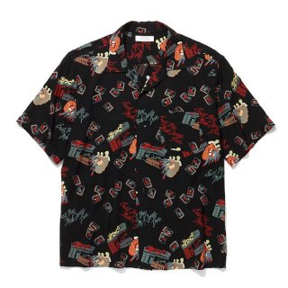 <img class='new_mark_img1' src='https://img.shop-pro.jp/img/new/icons8.gif' style='border:none;display:inline;margin:0px;padding:0px;width:auto;' />RADIALL/OAKTOWN-OPEN COLLARED SHIRT S/S/ブラック