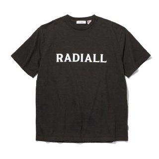 RADIALL/LOGO TYPE-CREW NECK T-SHIRT S/S/ブラック