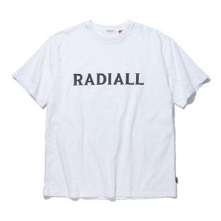 RADIALL/LOGO TYPE-CREW NECK T-SHIRT S/S/ホワイト