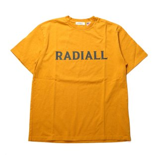 RADIALL/LOGO TYPE-CREW NECK T-SHIRT S/S/マスタード
