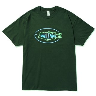 CHALLENGER/BASS NEON SIGN TEE/グリーン
