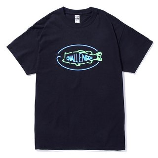 CHALLENGER/BASS NEON SIGN TEE/ネイビー