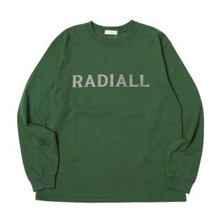 RADIALL/LOGO TYPE-CREW NECK T-SHIRT L/S/グリーン