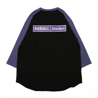 RADIALL/SLOW BURN-CREW NECK T-SHIRT 3Q/S/ブラック