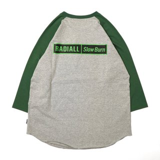 RADIALL/SLOW BURN-CREW NECK T-SHIRT 3Q/S/グレー